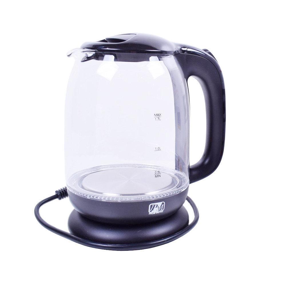Скляний електрочайник Promotec PM-825 (1.7 L)