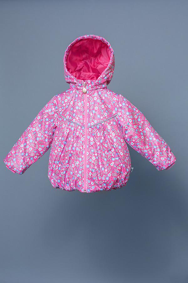 Ветровка легкая детская для девочки демисезонная розовая 80