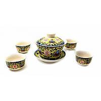 """Сервиз для чайной церемонии """"Иероглифы"""" 17х18х9,5 см)(Заварник - 100мл., чашка - 20мл.), фото 1"""