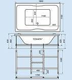 Акриловая ванна Triton Соната, 1800х1150х610 мм, фото 5