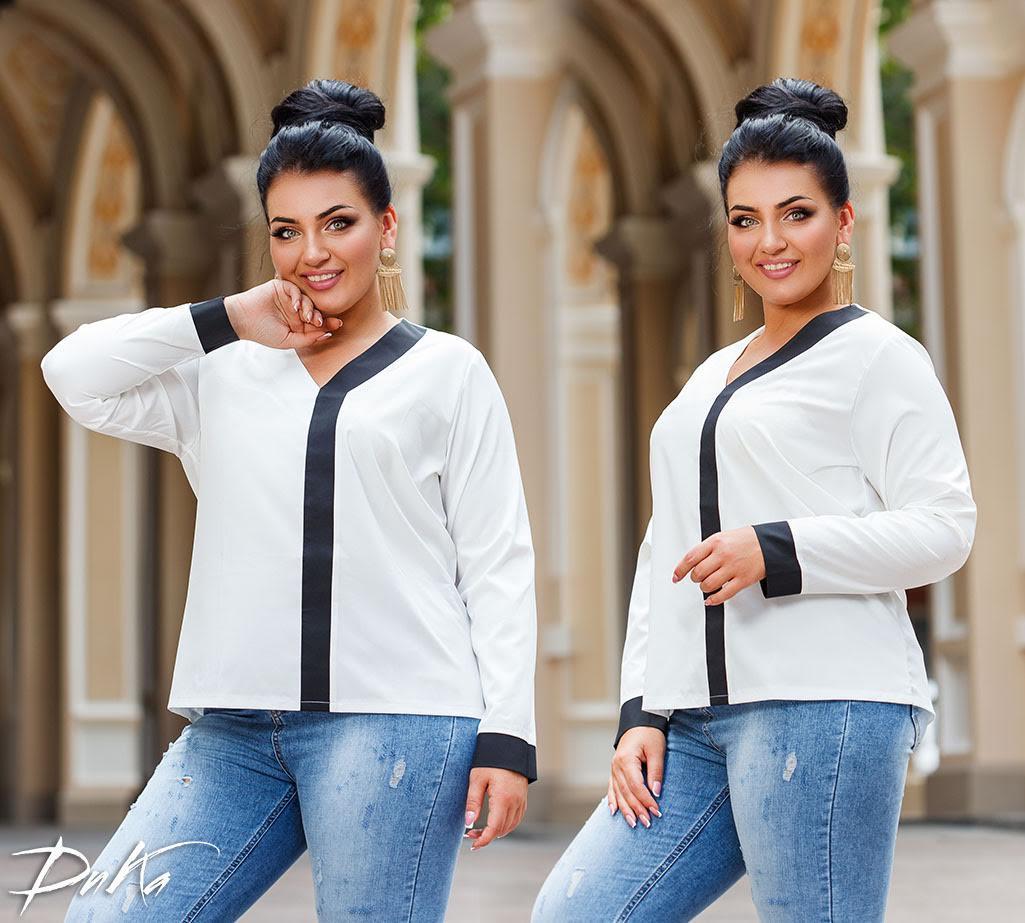 Блуза с V-образной горловиной 42-44.46-48.50-52.54-56