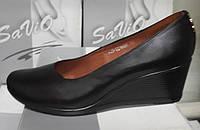 Туфли женские на удобной танкетке из натуральной кожи от производителя модель СД-Т18Р