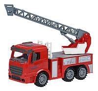 Машинка инерционная Same Toy Truck Пожарная машина с лестницей 98-616Ut