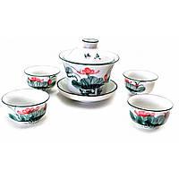 """Сервиз для чайной церемонии """"Лотосы"""" 17х18х9,5 см)(Заварник - 100мл., чашка - 20мл.)"""