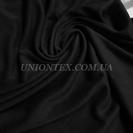 Трикотаж, віскоза щільна чорна, фото 2