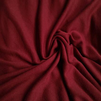 Трикотаж вискоза плотная бордовая, фото 2