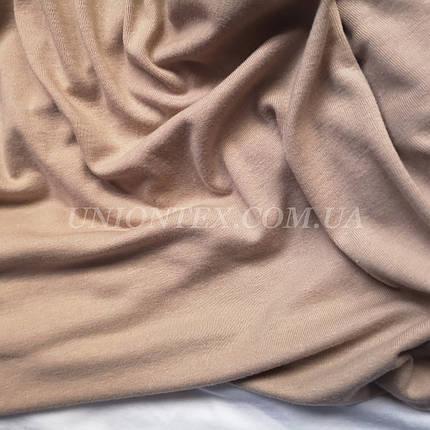 Трикотаж вискоза плотная бежевая, фото 2