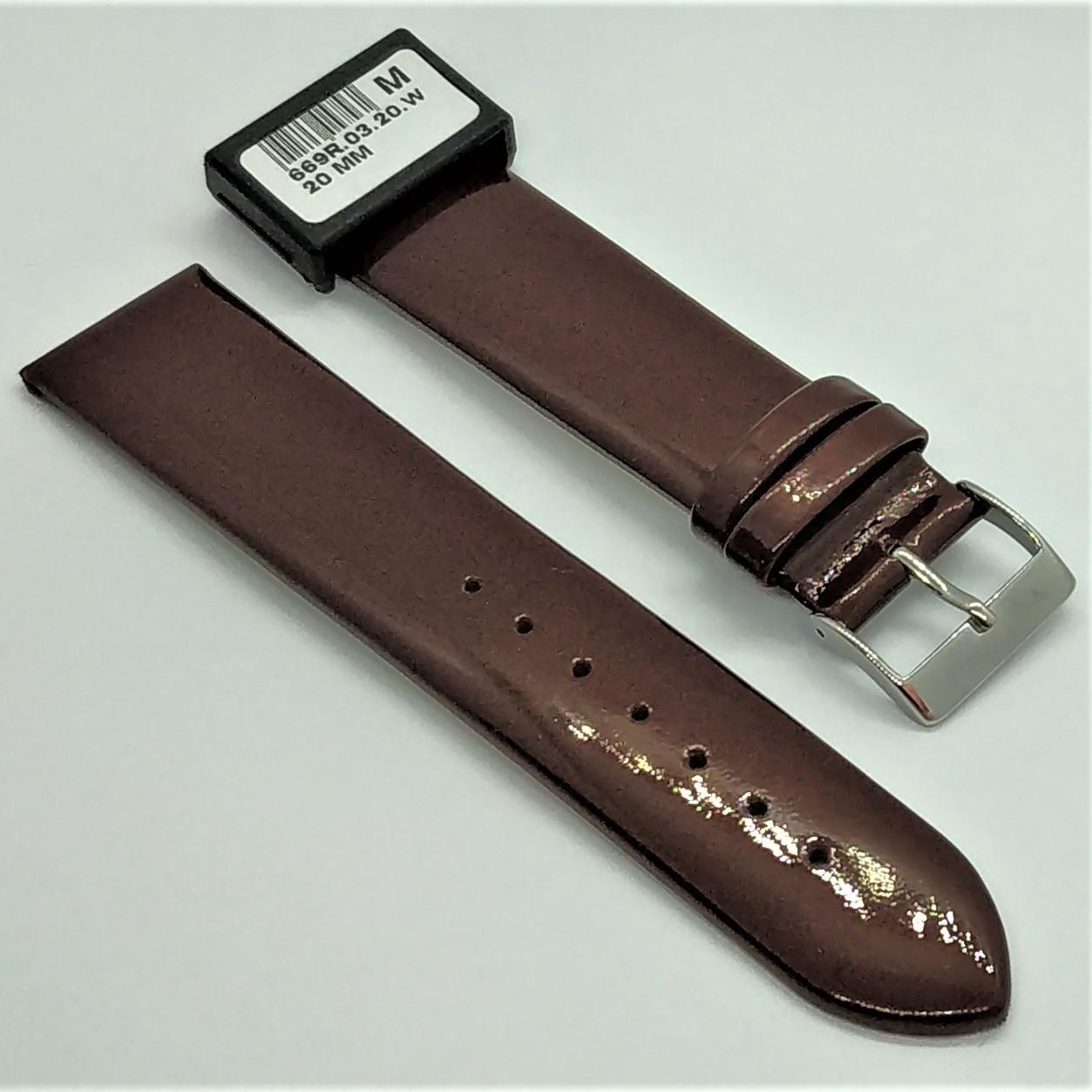 20 мм Кожаный Ремешок для часов CONDOR 669.20.03 Коричневый Ремешок на часы из Натуральной кожи