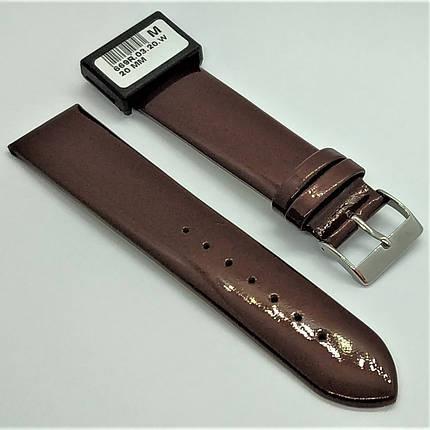 20 мм Кожаный Ремешок для часов CONDOR 669.20.03 Коричневый Ремешок на часы из Натуральной кожи, фото 2