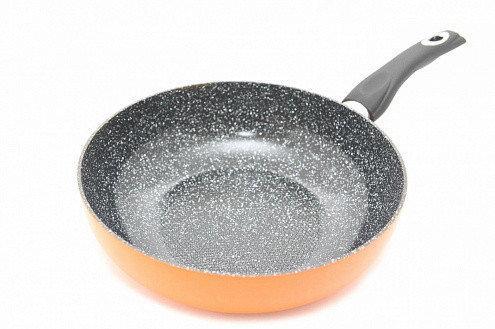 """Сковорода """"Penetta"""" 20х7.2см с индукционным дном алюминиевая с керамическим антипригарным покрытием Fissman"""