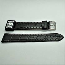22 мм Кожаный Ремешок для часов CONDOR 308L.22.01 Черный Ремешок на часы из Натуральной кожи удлиненный, фото 2