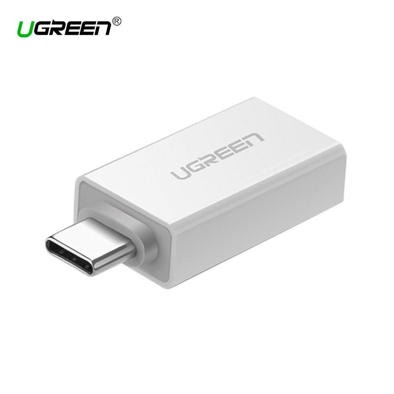 OTG адаптер Ugreen Тип-C к USB3.0 US173 (Белый)