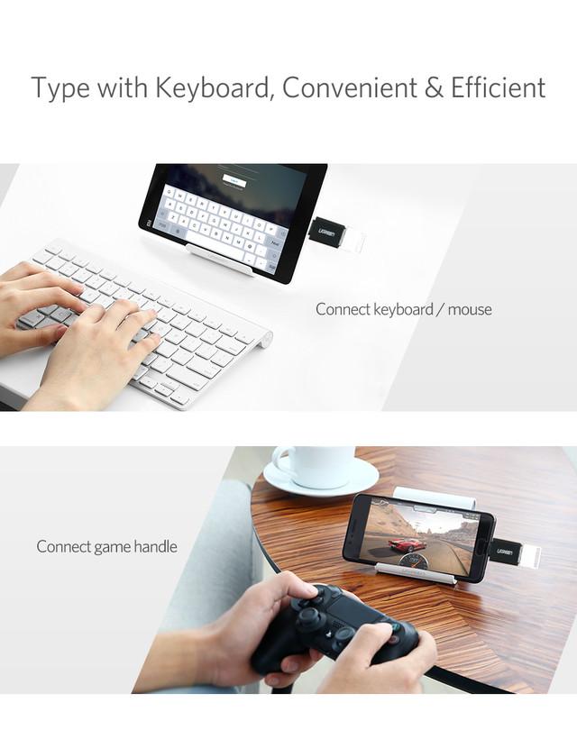 OTG адаптер Ugreen Тип-C к USB3.0 US173 30155 (Белый)