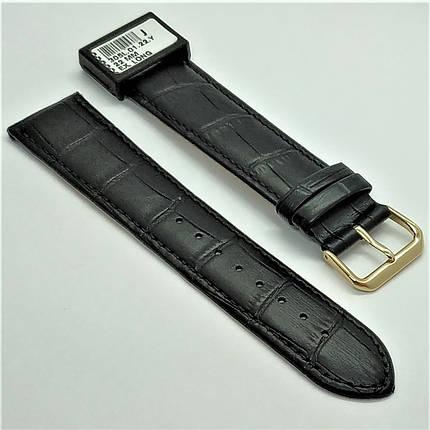 22 мм Кожаный Ремешок для часов CONDOR 305L.22.01 Черный Ремешок на часы из Натуральной кожи удлиненный, фото 2