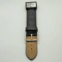 22 мм Кожаный Ремешок для часов CONDOR 305L.22.01 Черный Ремешок на часы из Натуральной кожи удлиненный, фото 3