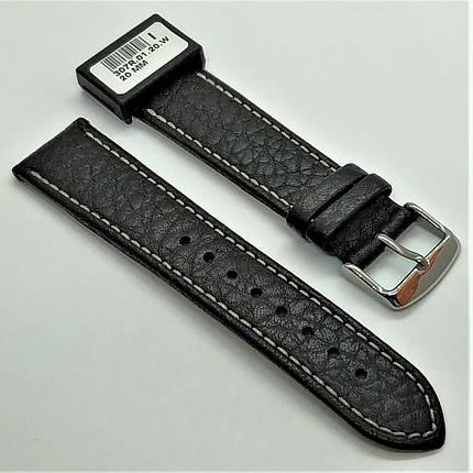 20 мм Кожаный Ремешок для часов CONDOR 307.20.01 Черный Ремешок на часы из Натуральной кожи, фото 2
