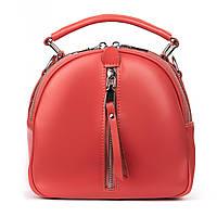 Женская сумка-клатч из натуральной кожи красного цвета