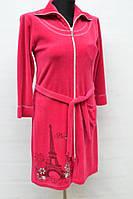 Велюровый халат на женщин  № 2063