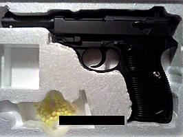 Пистолет G21 детский спринговый металлический на пульках диаметром 6 мм