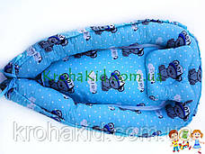 """Дитячий кокон / гніздечко / позиціонер """"Тедді"""" для новонароджених з ортопедичною подушкою, фото 3"""