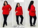 Женский прогулочный костюм в спортивном стиле в большом размере 52.54.56.58, фото 3