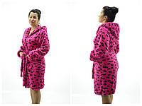 Женские банные халаты Леопард ( Размер L  48-50)