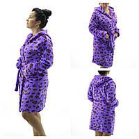 Женские махровые халаты Леопард ( Размер XXL 52-54)