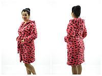 Женские халаты Леопард Махра ( Размер 3XL 54-56)