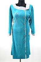 Велюровый халат на боковой молнии  № 2082