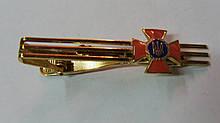Зажим для галстука (золотистый с крестиком )метал