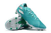 Футбольные бутсы adidas Nemeziz 19.1 FG Aero Green/White, фото 1