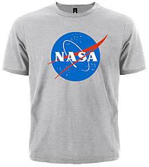 Серая футболка NASA (меланж), Размер S