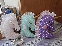 Іграшка-подушка єдиноріг. 100% бавовна., фото 6