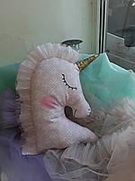 Іграшка-подушка єдиноріг. 100% бавовна., фото 5