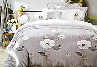 """Двуспальные постельные комплекты Фланель  """"Цветы на сером"""""""