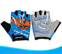 Детские безпалые перчатки для активного отдыха GUB S022 велоперчатки Оригинал! Синий(Car), L/XL