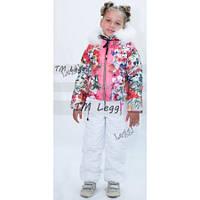Детский зимний термо комплект Moncler, цветы