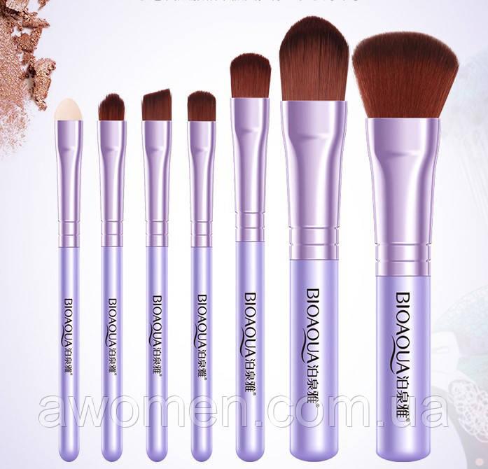 Набор кистей BIOAQUA Make up beauty 7 шт (сиреневые) без коробки