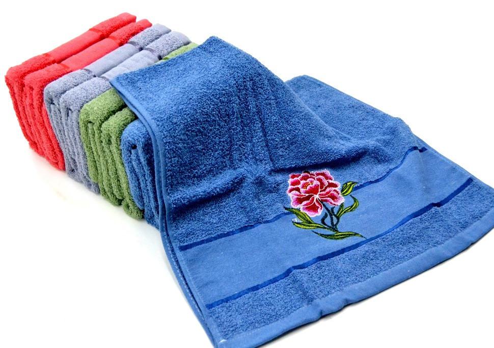 Банные полотенца с вышивкой 80*140 см., фото 1