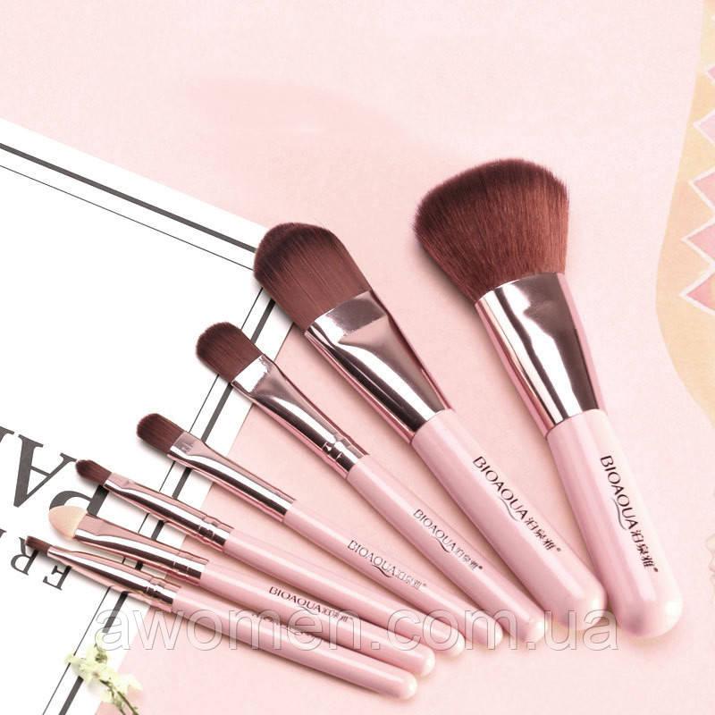 Набор кистей BIOAQUA Make up beauty 7 шт (розовые) без коробки