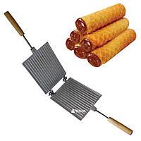 Форма для выпечки вафель и вафельных трубочек - Вафельница прямоугольная