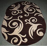 Ковёр овальной формы Legenda 0391 brown (синтетический) 0.8*1.5, Овальная