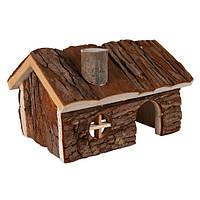 Trixie Hendrik House домик из натурального дерева для мелких грызунов 15х11х12см