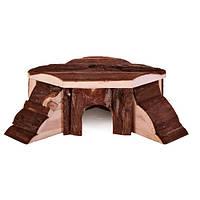 Trixie Thordis Corner House домик угловой из натурального дерева для морской свинки 35х15х37см