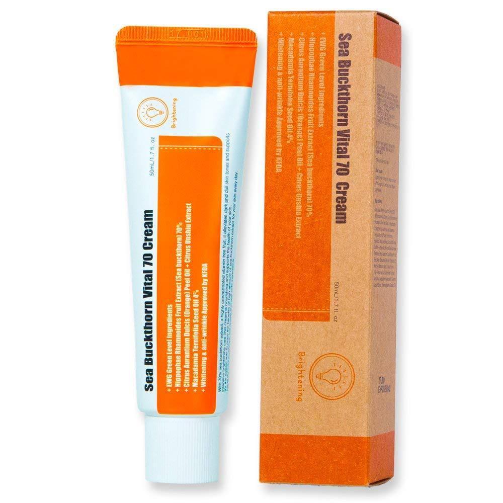 Витаминный крем с экстрактом облепихи Purito Sea Buckthorn Vital 70 Cream 50ml Корея