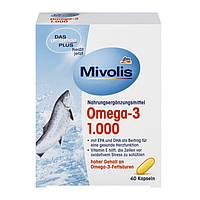 Биологически активная добавка Mivolis Omega-3 рыбий жир 60 капсул  Германия, фото 1