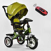 Велосипед 3-х кол. 5890 - 3297 Best Trike (1) ЦВЕТ- Хаки, ПОВОРОТНОЕ СИДЕНИЕ, СКЛАДНОЙ РУЛЬ, Рус.озвучка, НАДУВНЫЕ КОЛЕСА, ПУЛЬТ (свет,звук)