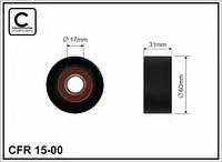 Ролик ручейкового ремня паразитный на Renault Trafic Opel Vivaro с 2003 года 2.5dCi (+AC) Caffaro 15-00