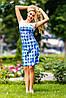 Платье 0943 / белый + голубой