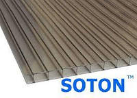 SOTON - поликарбонат сотовый 8 мм бронзовый лист (2,1 м х 6 м)